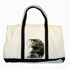 Grandfather Old Man Brush Design Two Tone Tote Bag