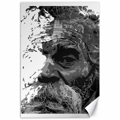 Grandfather Old Man Brush Design Canvas 12  X 18
