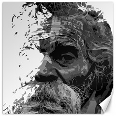 Grandfather Old Man Brush Design Canvas 16  X 16