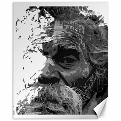Grandfather Old Man Brush Design Canvas 11  X 14