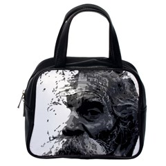 Grandfather Old Man Brush Design Classic Handbags (one Side)