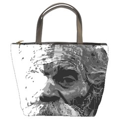 Grandfather Old Man Brush Design Bucket Bags
