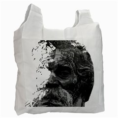 Grandfather Old Man Brush Design Recycle Bag (one Side)