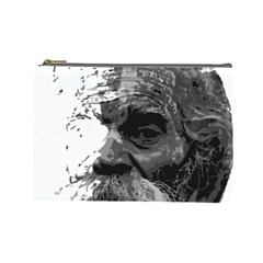Grandfather Old Man Brush Design Cosmetic Bag (large)