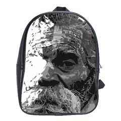 Grandfather Old Man Brush Design School Bags(Large)
