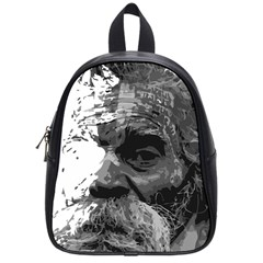 Grandfather Old Man Brush Design School Bags (small)