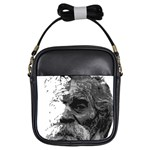 Grandfather Old Man Brush Design Girls Sling Bags Front
