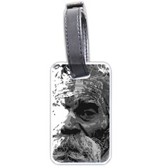 Grandfather Old Man Brush Design Luggage Tags (one Side)