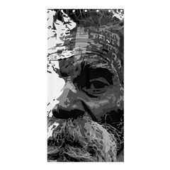 Grandfather Old Man Brush Design Shower Curtain 36  X 72  (stall)