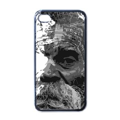 Grandfather Old Man Brush Design Apple Iphone 4 Case (black)