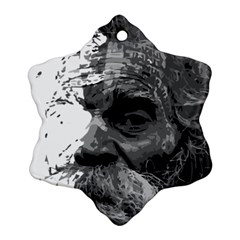 Grandfather Old Man Brush Design Snowflake Ornament (two Sides)