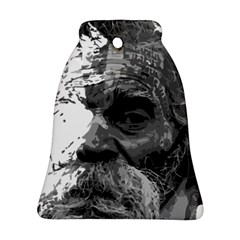 Grandfather Old Man Brush Design Bell Ornament (two Sides)