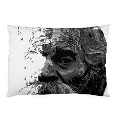 Grandfather Old Man Brush Design Pillow Case (two Sides)