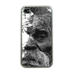 Grandfather Old Man Brush Design Apple Iphone 4 Case (clear)
