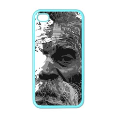 Grandfather Old Man Brush Design Apple Iphone 4 Case (color)