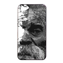 Grandfather Old Man Brush Design Apple Iphone 4/4s Seamless Case (black)