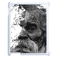 Grandfather Old Man Brush Design Apple Ipad 2 Case (white)