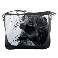 Grandfather Old Man Brush Design Messenger Bags