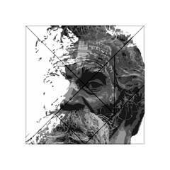 Grandfather Old Man Brush Design Acrylic Tangram Puzzle (4  X 4 )