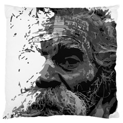 Grandfather Old Man Brush Design Large Cushion Case (two Sides)