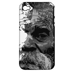 Grandfather Old Man Brush Design Apple Iphone 4/4s Hardshell Case (pc+silicone)