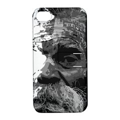 Grandfather Old Man Brush Design Apple Iphone 4/4s Hardshell Case With Stand