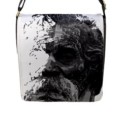 Grandfather Old Man Brush Design Flap Messenger Bag (l)