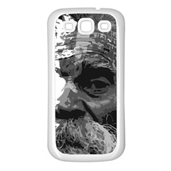 Grandfather Old Man Brush Design Samsung Galaxy S3 Back Case (white)