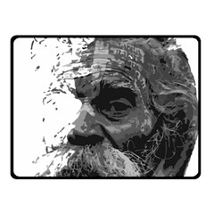 Grandfather Old Man Brush Design Double Sided Fleece Blanket (small)