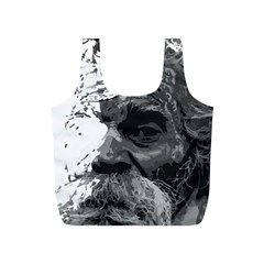 Grandfather Old Man Brush Design Full Print Recycle Bags (s)