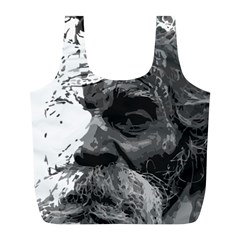 Grandfather Old Man Brush Design Full Print Recycle Bags (l)