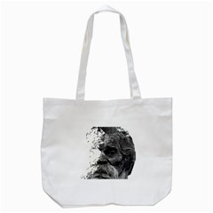 Grandfather Old Man Brush Design Tote Bag (white)