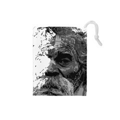 Grandfather Old Man Brush Design Drawstring Pouches (small)