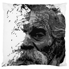 Grandfather Old Man Brush Design Large Flano Cushion Case (Two Sides)