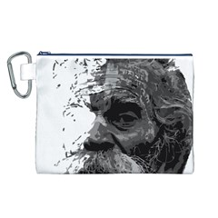 Grandfather Old Man Brush Design Canvas Cosmetic Bag (l)