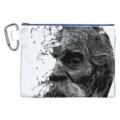 Grandfather Old Man Brush Design Canvas Cosmetic Bag (xxl)