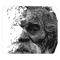 Grandfather Old Man Brush Design Double Sided Flano Blanket (small)