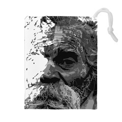 Grandfather Old Man Brush Design Drawstring Pouches (extra Large)