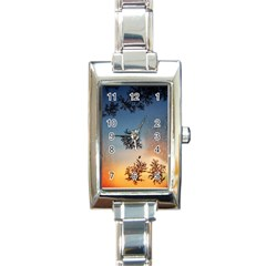 Hardest Frost Winter Cold Frozen Rectangle Italian Charm Watch