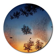 Hardest Frost Winter Cold Frozen Round Mousepads