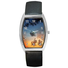 Hardest Frost Winter Cold Frozen Barrel Style Metal Watch