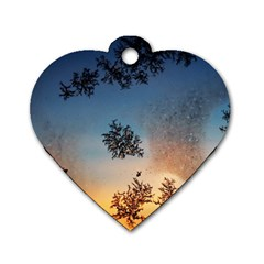Hardest Frost Winter Cold Frozen Dog Tag Heart (two Sides)