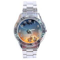 Hardest Frost Winter Cold Frozen Stainless Steel Analogue Watch