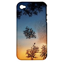Hardest Frost Winter Cold Frozen Apple Iphone 4/4s Hardshell Case (pc+silicone)