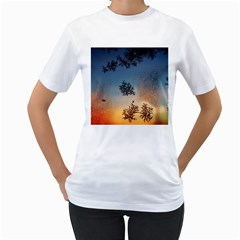 Hardest Frost Winter Cold Frozen Women s T Shirt (white) (two Sided)