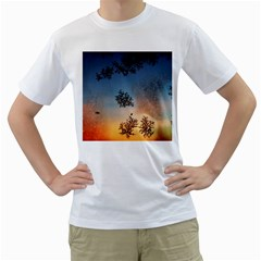Hardest Frost Winter Cold Frozen Men s T Shirt (white) (two Sided)