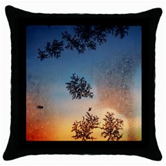 Hardest Frost Winter Cold Frozen Throw Pillow Case (black)