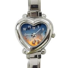 Hardest Frost Winter Cold Frozen Heart Italian Charm Watch