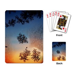 Hardest Frost Winter Cold Frozen Playing Card