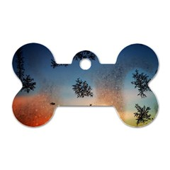 Hardest Frost Winter Cold Frozen Dog Tag Bone (one Side)